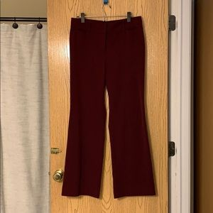 Loft Burgundy Dress Pants size 6